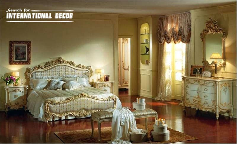 Luxury Italian Bedroom And Furniture In Classic Style