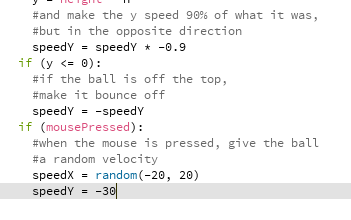 Processing in Python Mode: Bouncing Ball!