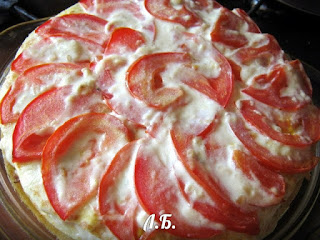 запекаем блинный пирог в духовке