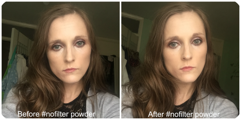 nyx #nofilter finishing powder before and after
