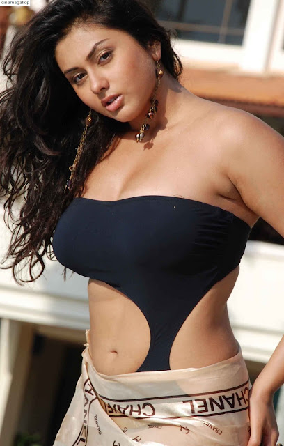 Busty Namitha in Black Bra -Bikini Swimsuit Hot Pick