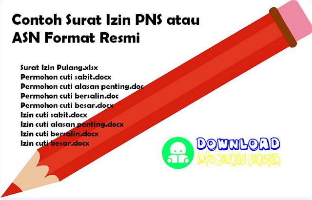 Contoh Surat Izin PNS atau ASN Format Resmi