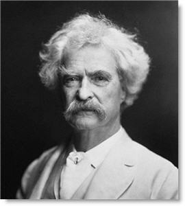 Mark Twain image courtesy of public domain