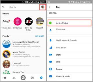 Cara Mematikan Status Online di Messenger Terbaru