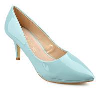 Pantofi de zi eleganti albastri cu toc mediu