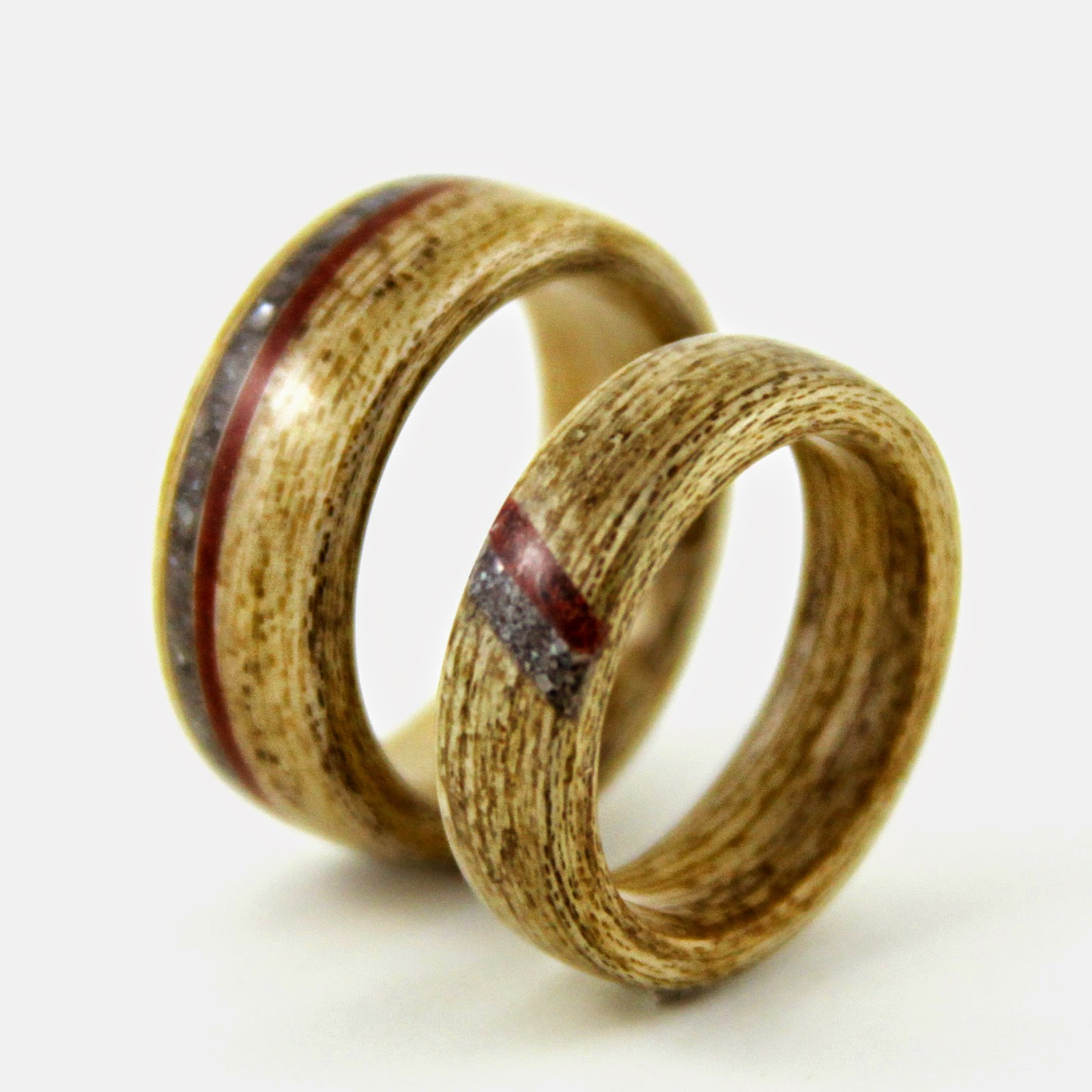 Amazing Gustav Reyes Wooden Wedding Rings