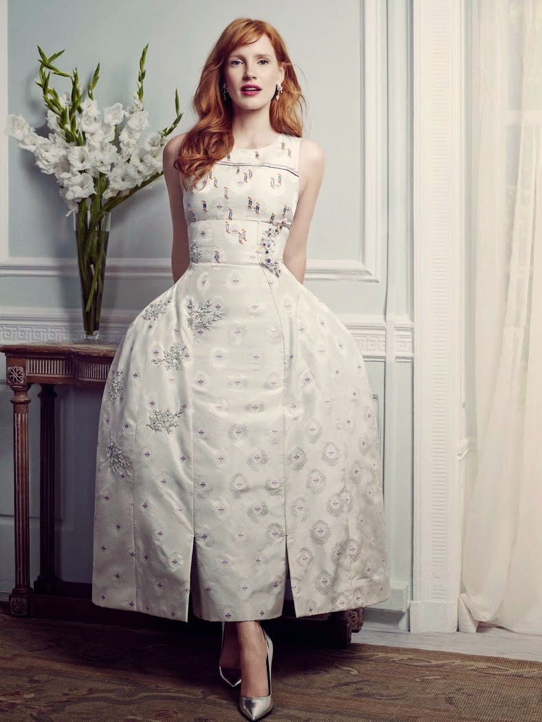 Jessica Chastain Christian Dior Couture dress