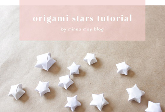 pape craft: origami stars DIY tutorial