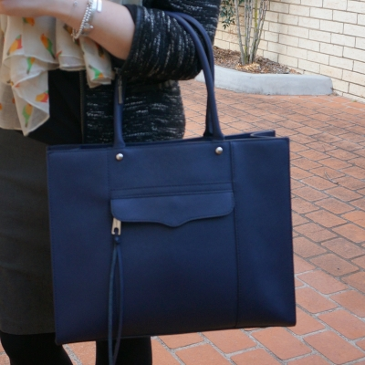 Rebecca Minkoff medium MAB tote in moon navy bag | away from the blue