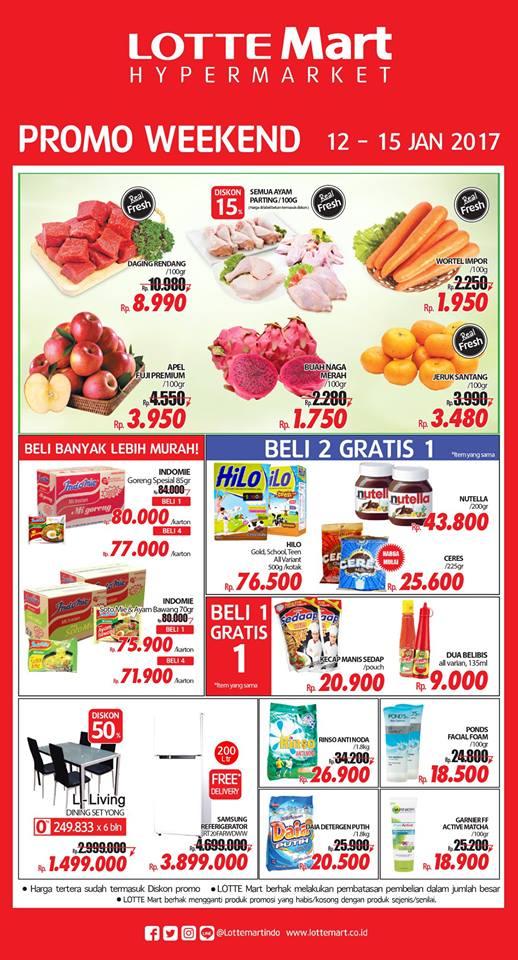 Katalog Harga Promo Lottemart Akhir 12 – 15 Januari 2017