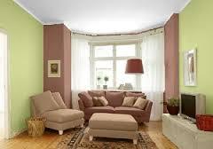 sala color verde marrón