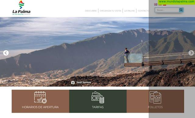 El Cabildo promociona sus centros de interés turístico a través de una nueva web propia
