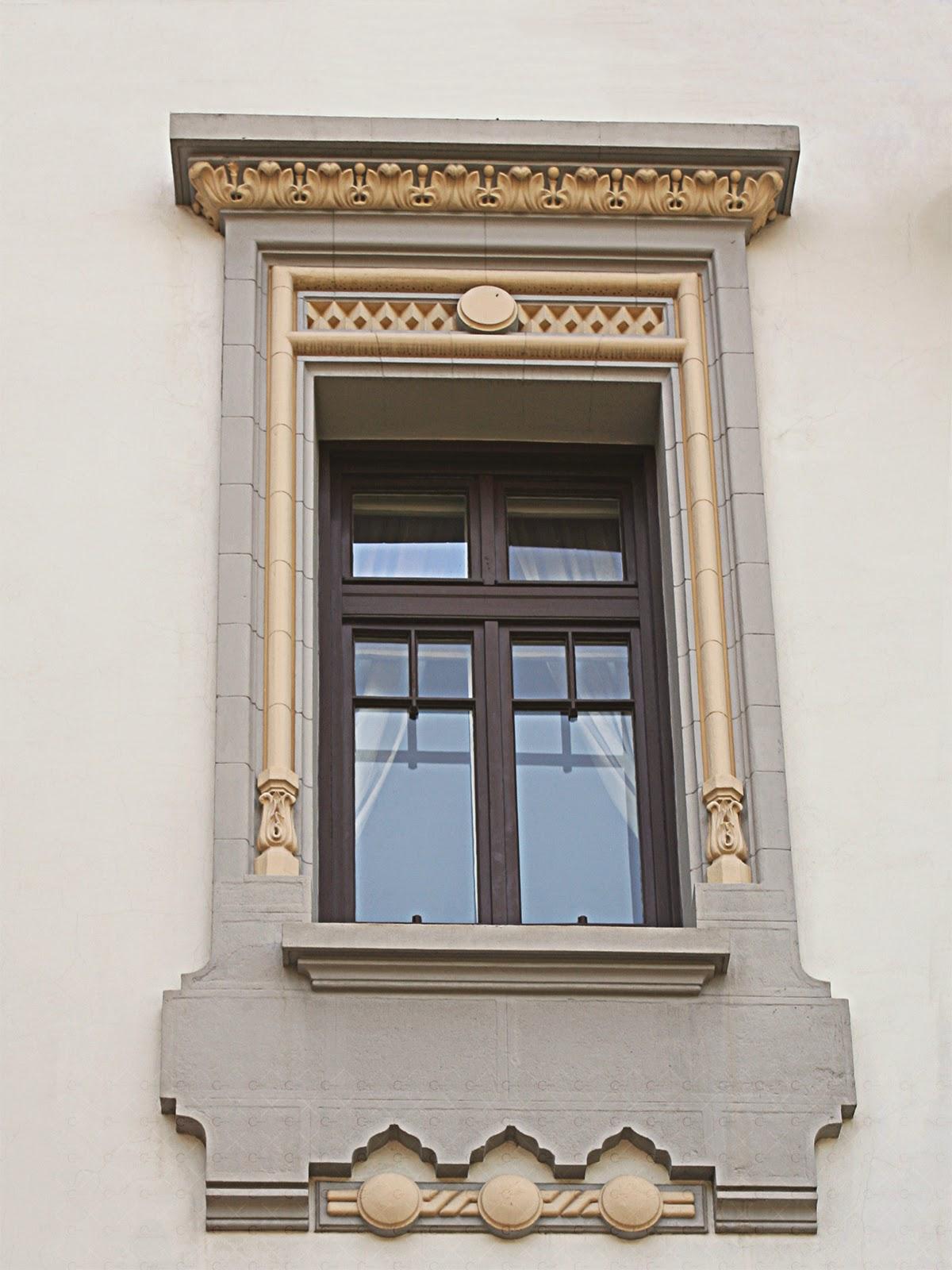 ancadramente neoromanesti, fatada casa cu profile neoromanesti