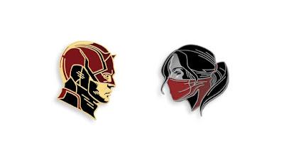 Daredevil Netflix Television Series Marvel Portrait Enamel Pins by Matt Taylor x Mondo