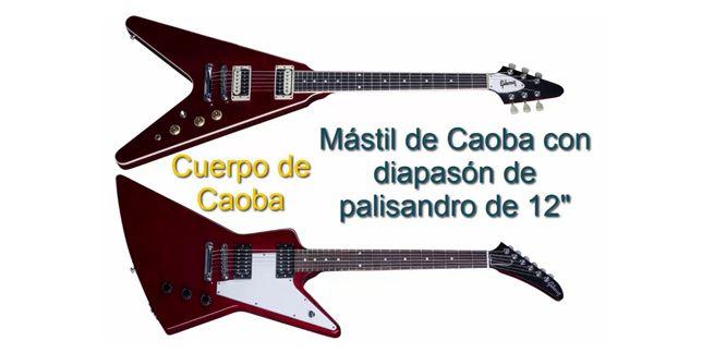 Maderas y Radio de Diapasón de las Guitarras Eléctricas Gibson Explorer y Flying V