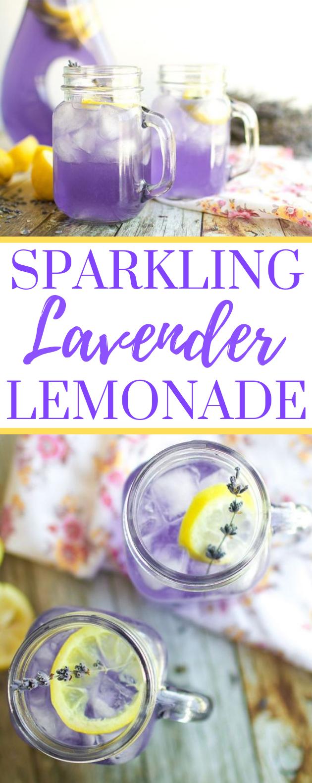 SPARKLING LAVENDER LEMONADE #drinks #freshdrink #summer #juice #sparkling