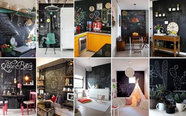 Βάψιμο τοίχων με χρώμα Μαυροπίνακα
