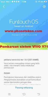 Cara dan fungsi pembaruan sistem VIVO Y71