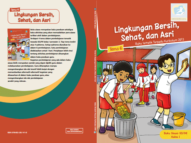 Buku Siswa Kelas 1 Kurikulum 2013 Semester 2 Edisi Revisi 2016
