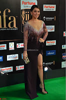 Hansika Motwani in Glittering Deep Neck Transparent Leg Split Purple Gown at IIFA Utsavam Awards 14.JPG