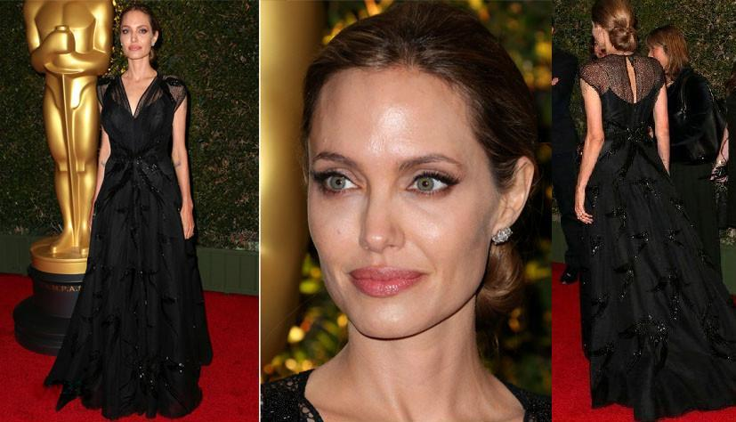Angelina Jolie in Atelier Versace – Governors Awards 2013