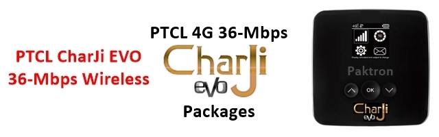 PTCL CharJi Packages and PTCL 4G Packages