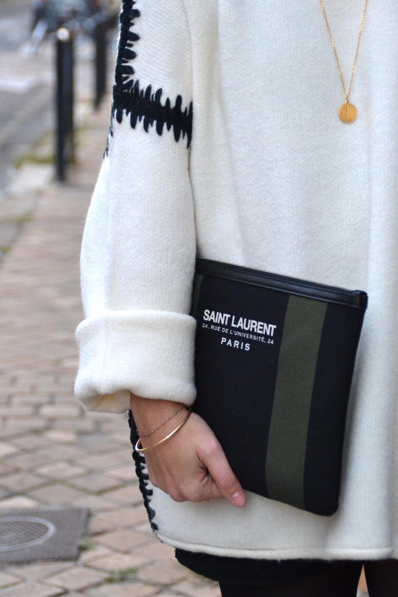 pochette toile Saint Laurent