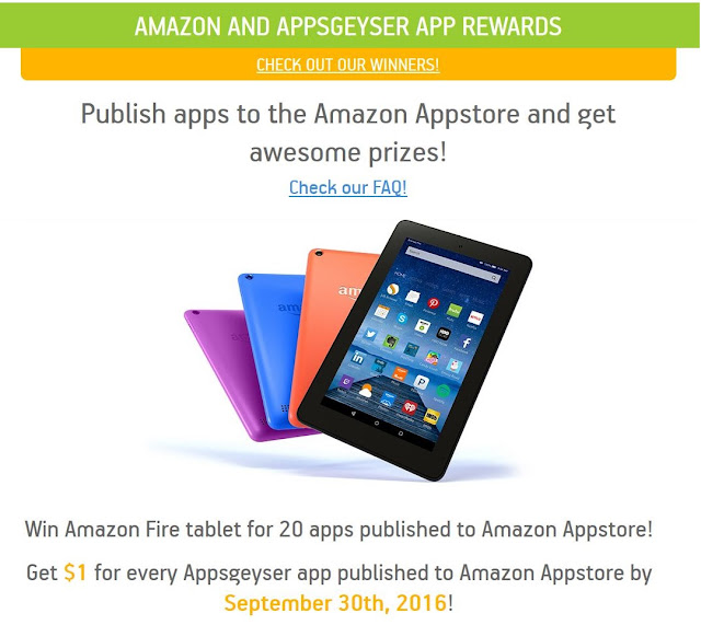 Tablet Gratis dari Amazon and AppsGeyser App Rewards