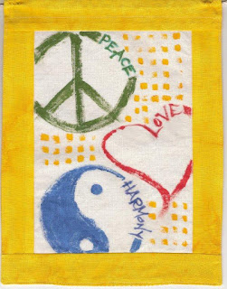 Bhavana Project prayer flag, Riea Owens