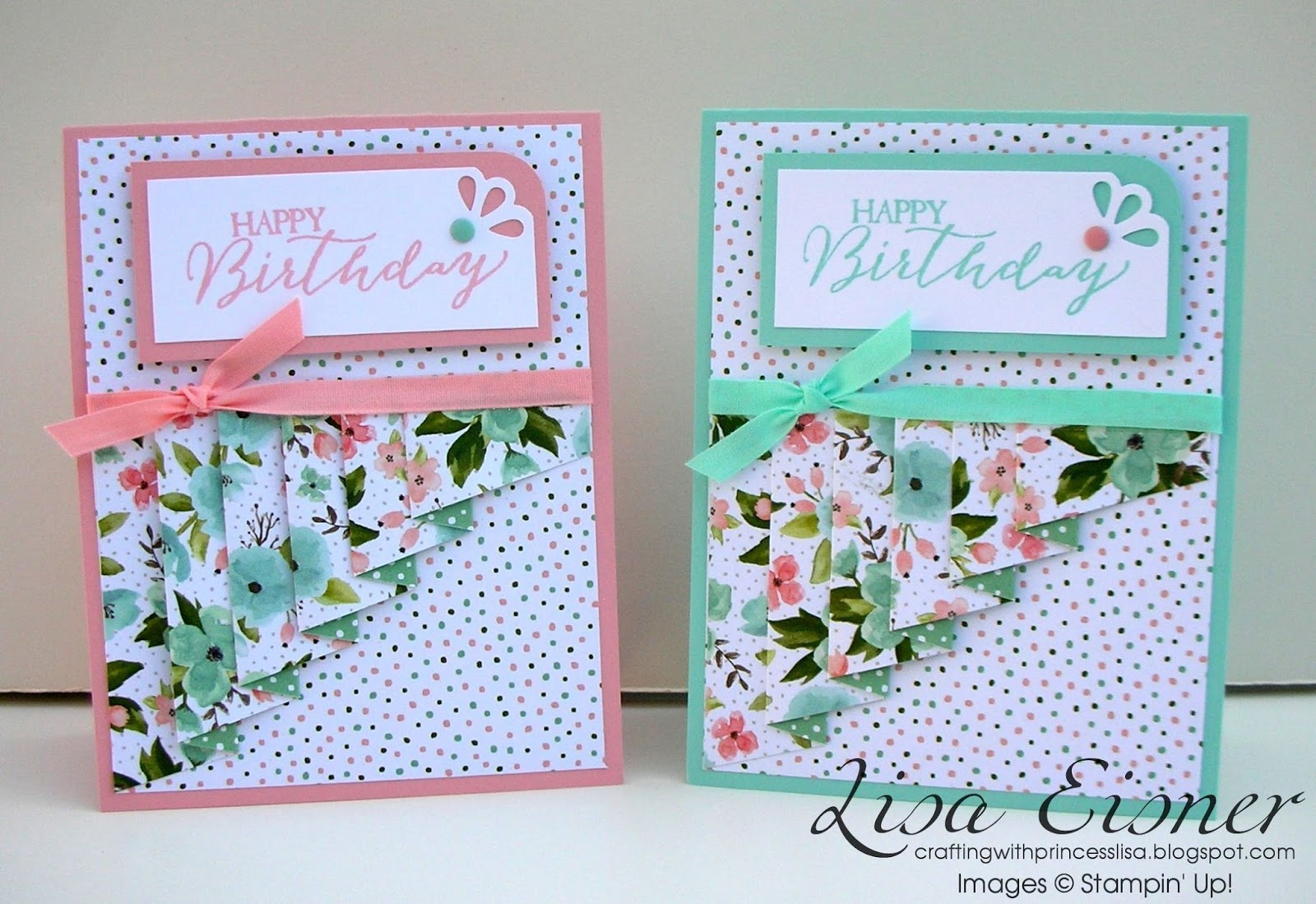 crafting with princess lisa april thank you cards drapery fold