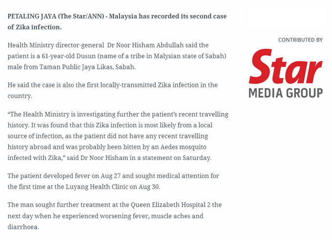 Kes Zika - Confirm Dah 2 Kes di Malaysia