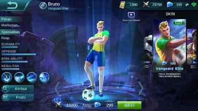 Bruno, Jenis Hero Dalam Game Mobile Legends