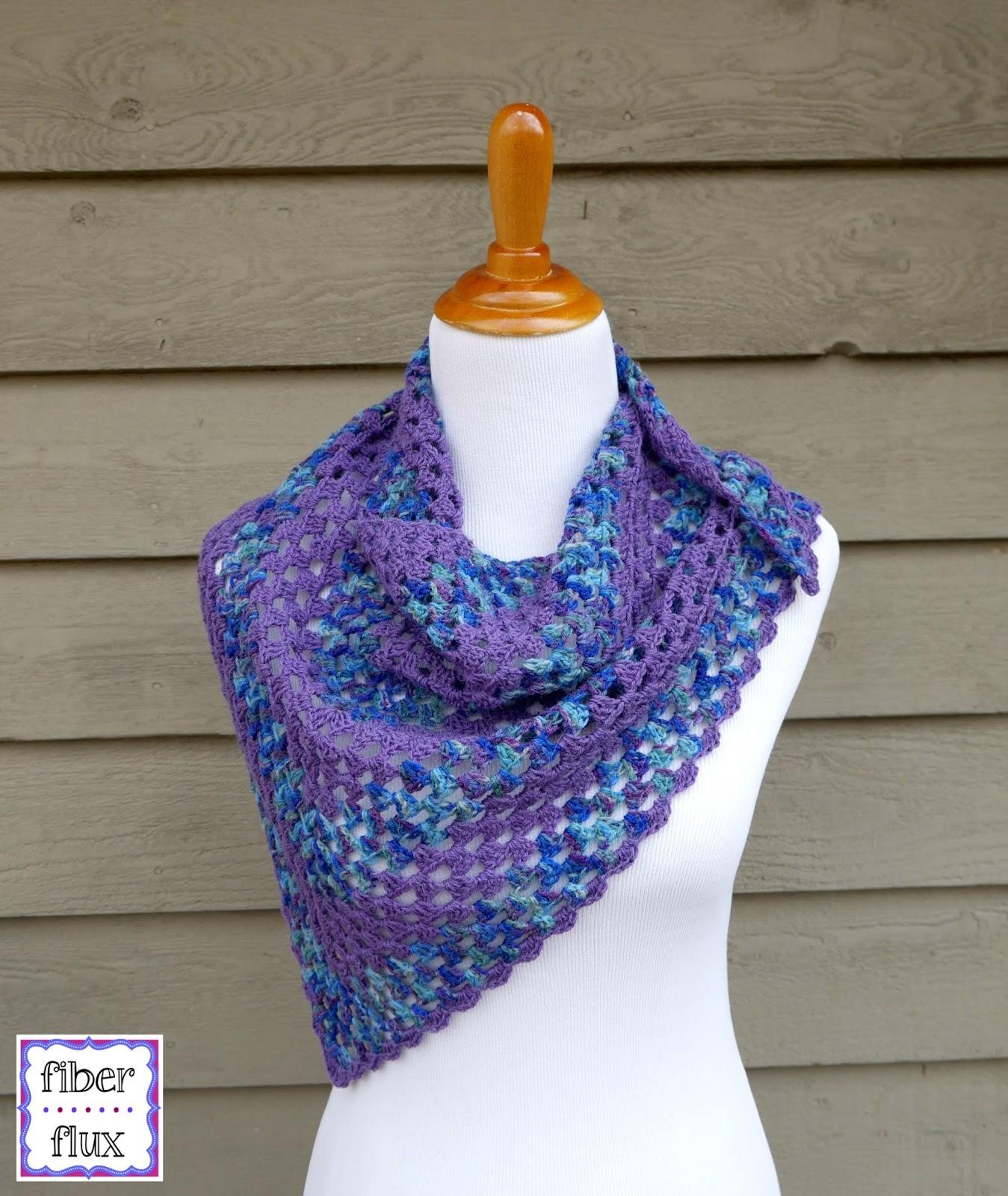 Fiber Flux: Free Crochet Pattern...Larkspur Shawlette!