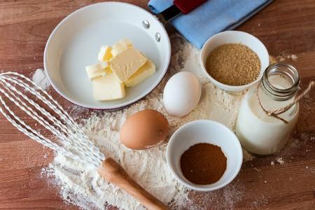 Huevos, leche, mantequilla