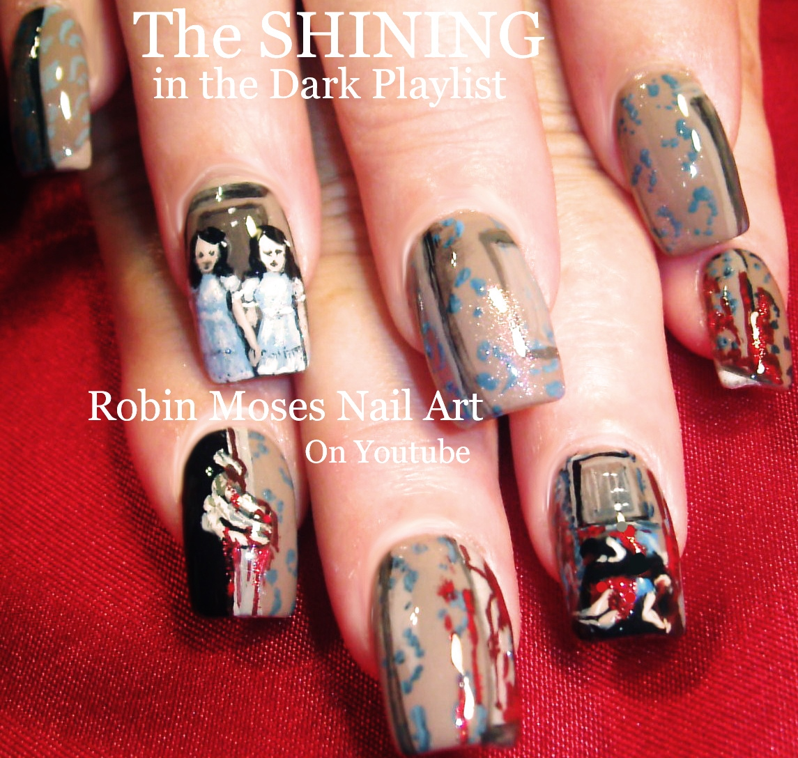 Nail Art By Robin Moses Halloween Mike Myers Nail Art Horror Film