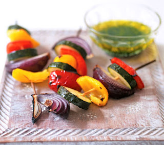 veg kebabs with dipping sauce recipe