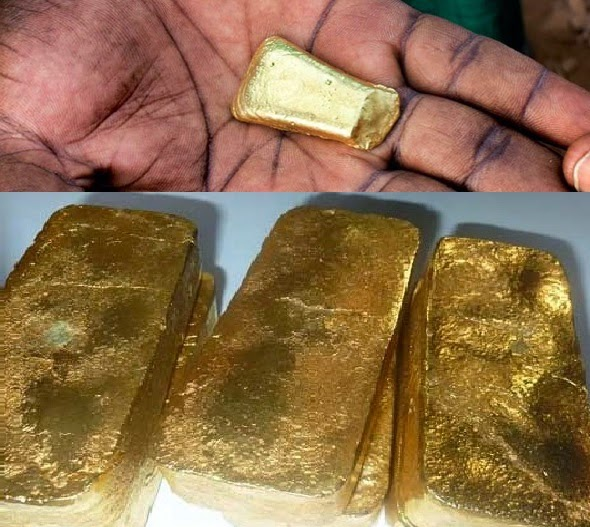 pictures of raw gold bar