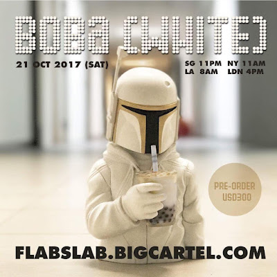 Boba Prototype White Edition Star Wars Resin Figure Bust by Luke Chueh x FLABSLAB