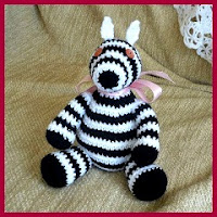 Cebra sentada amigurumi