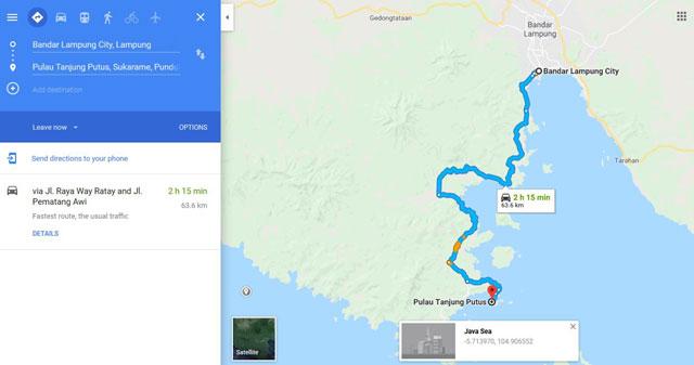 lokasi pantai tanjung putus