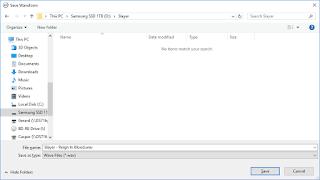 EAC file output screenshot.