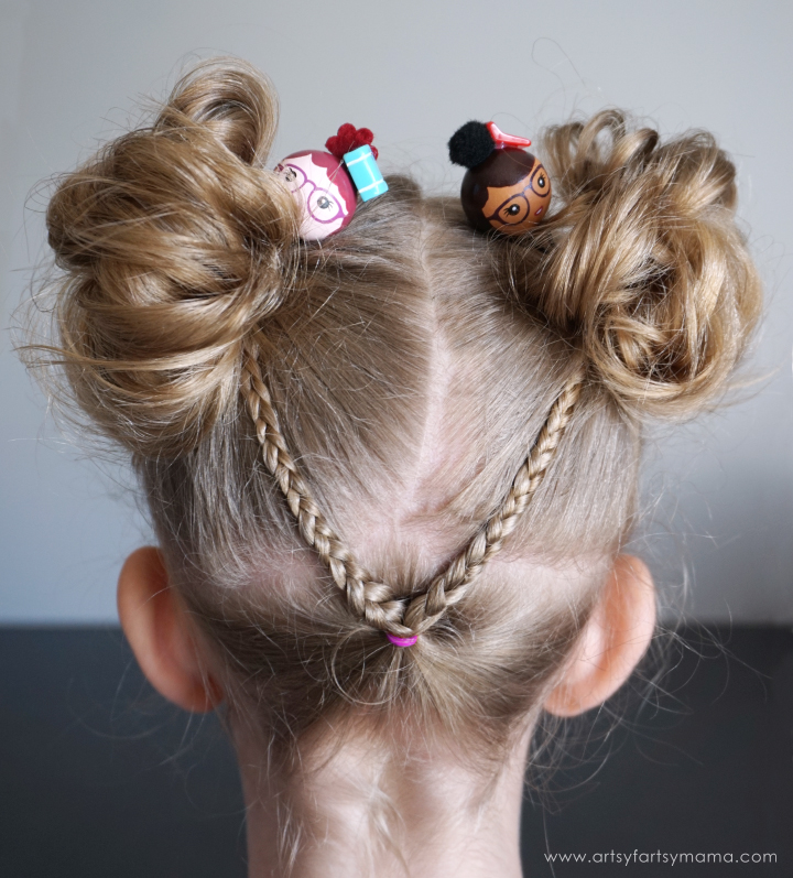 Add adorable hair flair to any style with the BunToppers hair accessories! #buntoppers #kidshair