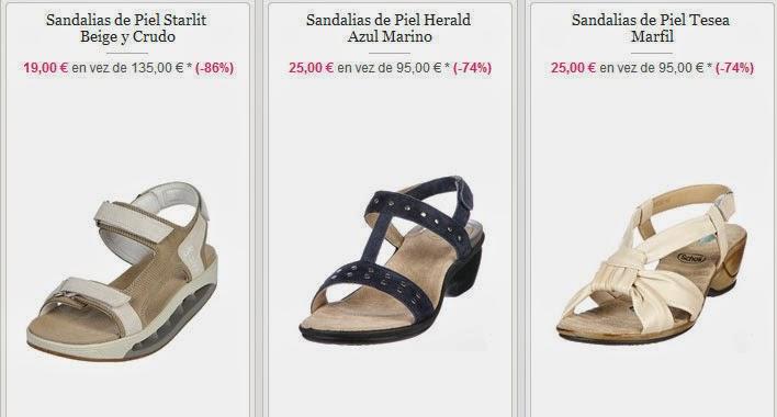 Sandalias de piel por 19 euros