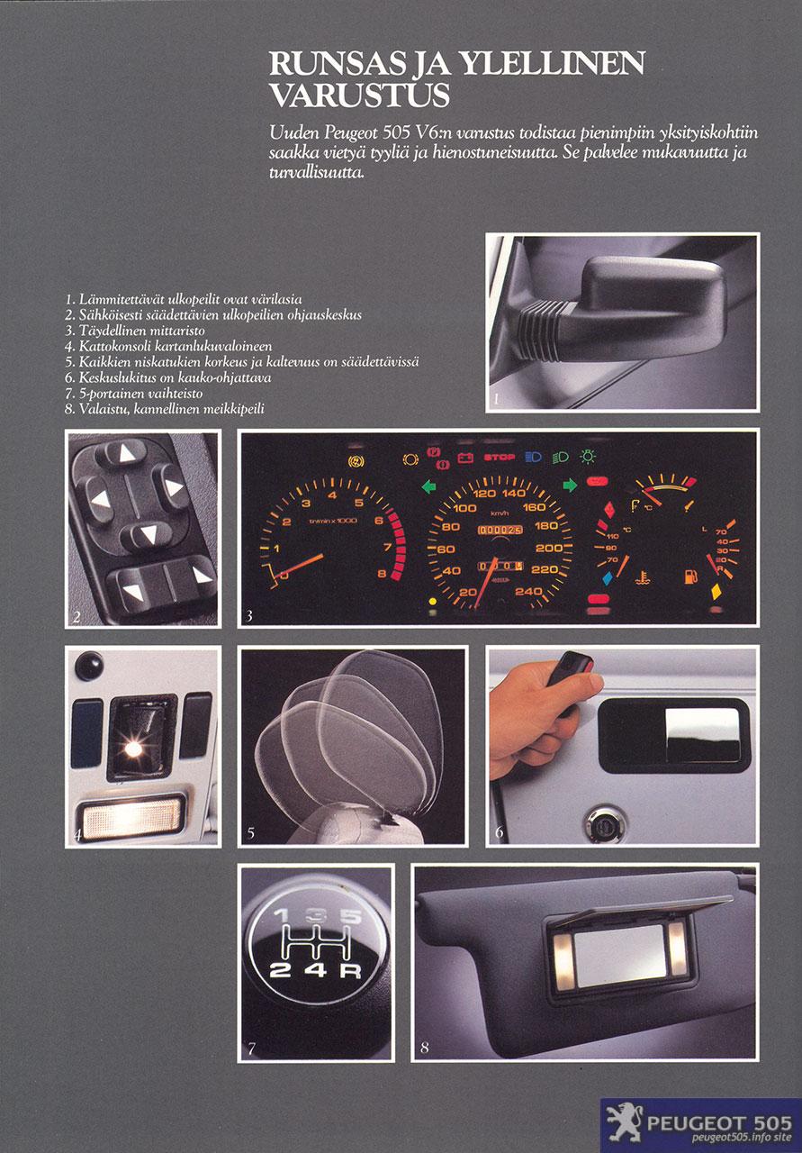 100 Peugeot 505 Car Picker Red Peugeot 505 1987