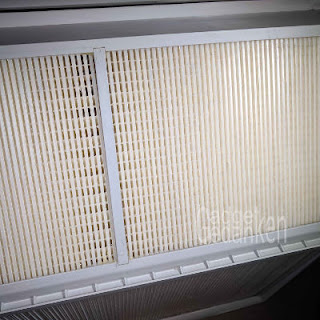 Tauscherplatten des Wärmetauschers vor der Reinigung