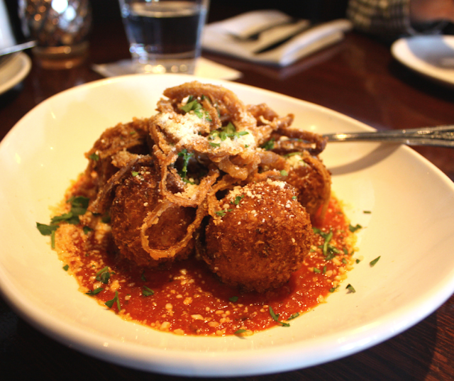 Delicious and made from scratch Arancini al Forno at VAI's Naperville.