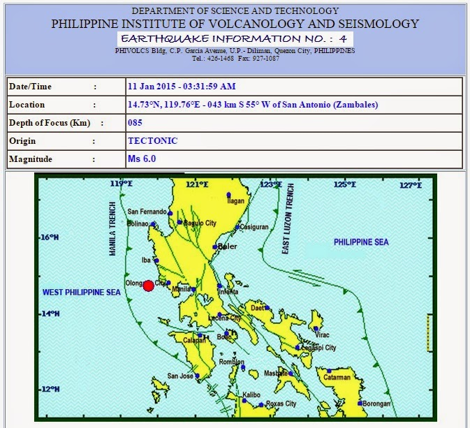 Magnitude 6.0 earthquake hits Luzon, Metro Manila areas