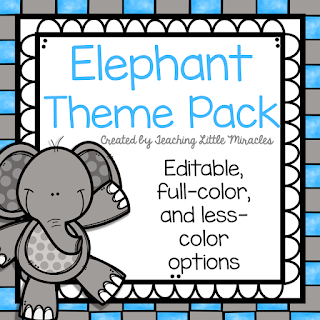 https://www.teacherspayteachers.com/Product/Elephant-Theme-Classroom-Decor-Pack-2725993