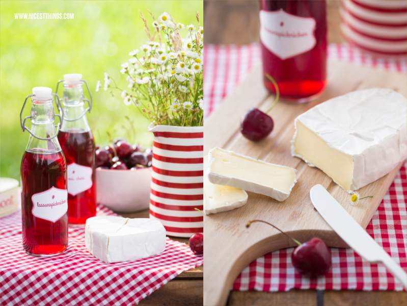 Picknick in Rot und Weiss mit Géramont