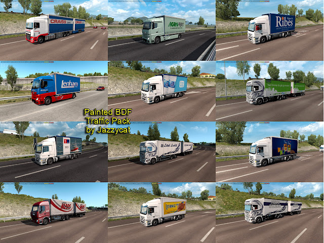 ets 2 painted bdf traffic pack v5.2 screenshots 1
